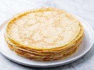 Рецепта Лесни и вкусни палачинки от смес с газирана вода и брашно без яйца и без мляко
